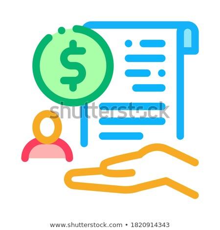 наличных купить соглашение икона вектора Сток-фото © pikepicture