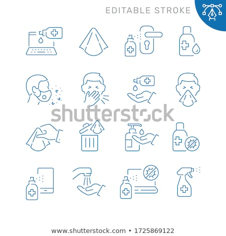 laptop disinfection icon vector outline illustration Stock photo © pikepicture