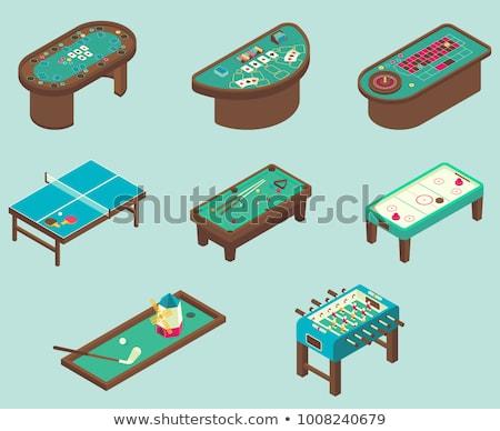 Játékos asztal fogadás hazárdjáték izometrikus ikon Stock fotó © pikepicture