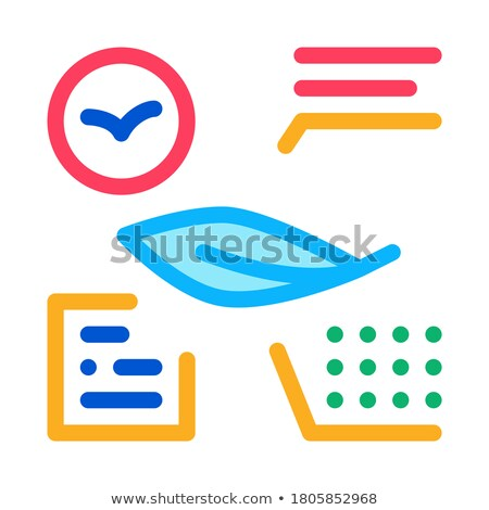 Bird Feather Characteristics Icon Thin Line Vector Stock photo © pikepicture