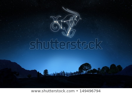Black zodiacs capricorn Stock photo © cidepix
