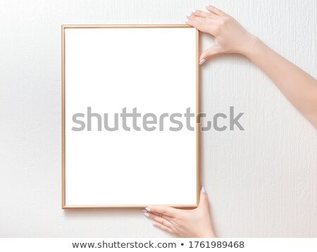 blond woman show billboard Stock photo © smithore