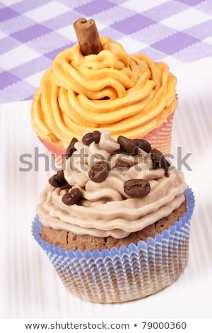 Two fancy cupcakes stock photo © aladin66