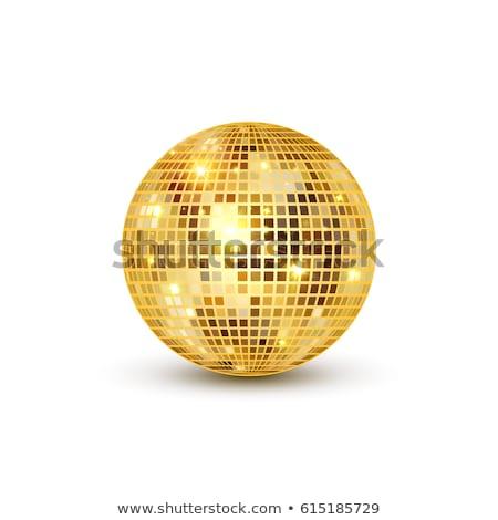 złoty · disco · ball · strony · dance · świetle · tle - zdjęcia stock © pathakdesigner