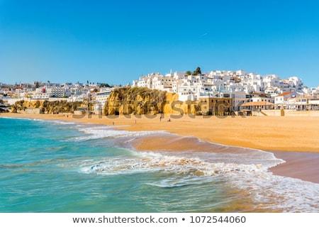 tengerpart · Portugália · augusztus · 30 · turisták · élvezi - stock fotó © hofmeester