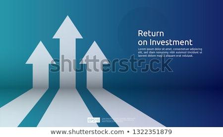 Foto stock: Sucesso · seta · bar · mercado · financeiro · em · movimento