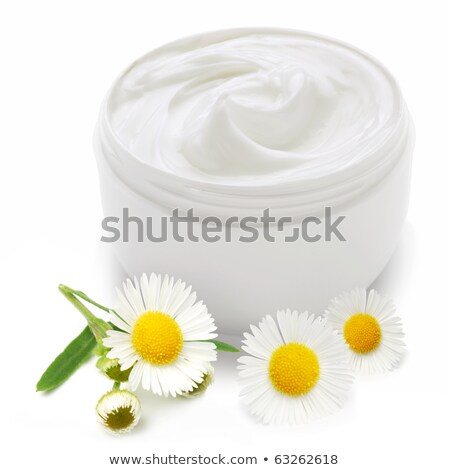 jar with cream and camomile stock photo © neirfy