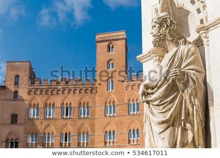 Siena - Piazza del Campo and Palazzo Sansedoni Stock photo © wjarek