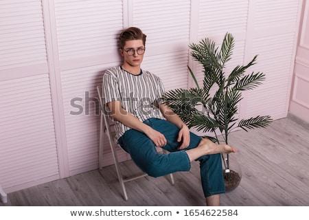 Sexy парень дерево драматический стилизованный портрет Сток-фото © curaphotography