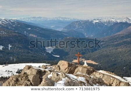 Kereszt Krisztus passz Olaszország tájkép nyár Stock fotó © Antonio-S