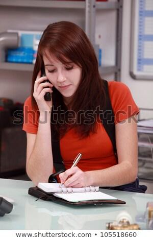 женщину сантехники работу студент телефон Сток-фото © photography33