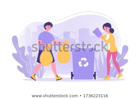 lixo · reciclável · materiais · papel · plástico · metal - foto stock © photography33