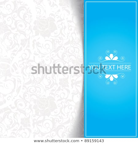 Collection of paper arrows on blue background stock photo © AnnaVolkova