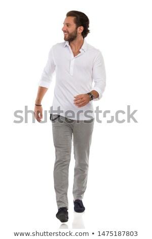 negro · masculina · moda · modelo · retrato · guapo - foto stock © feedough
