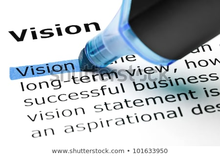vision highlighted in blue stock photo © ivelin