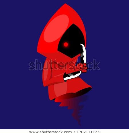 красный дьявол девушки ножом темно черный Сток-фото © dolgachov
