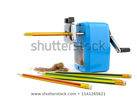 Mechanisch puntenslijper potlood witte onderwijs schrijven Stockfoto © Witthaya