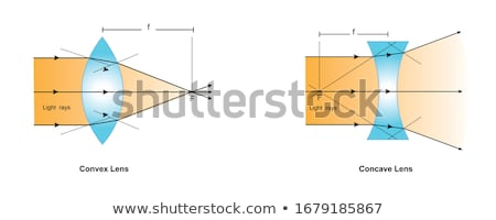 glass lens and refraction Stock photo © prill