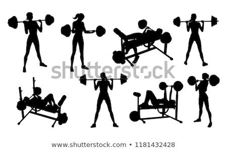 гири · женщину · расслабиться · тренировки · красный · спортзал - Сток-фото © photography33