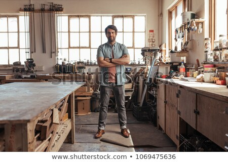 Portrait of a young tradesman Stock photo © photography33