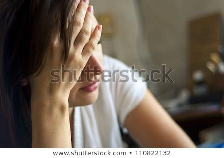 pretty young woman suffering stock photo © grafvision