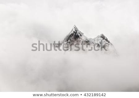 隠された 雲 ヒマラヤ山脈 空 風景 ストックフォト © Arsgera