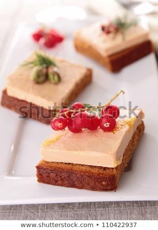 Mézeskalács vörös ribiszke pirítós diéta büfé bogyó Stock fotó © M-studio