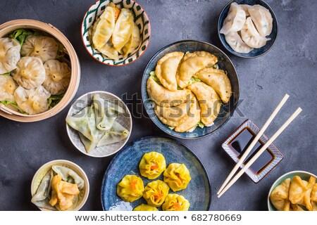 Сток-фото: азиатских · закуска · ресторан · белый · обед