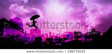 Young woman with a purple umbrella Stock photo © photography33