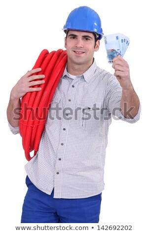 Dinheiro tubulação em torno de ombro Foto stock © photography33
