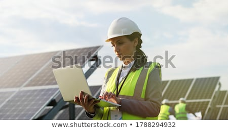 Electrician with a laptop Stock photo © photography33