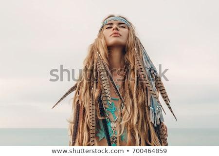 hippie woman Stock photo © smithore