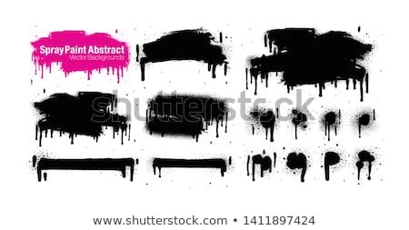 duvar · yazısı · ok · sızıntı · siyah · beyaz · imzalamak · sıçramak - stok fotoğraf © mikemcd