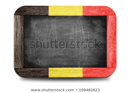 Vlag België Blackboard geschilderd krijt kleur Stockfoto © vepar5