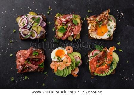 açmak · sandviç · komik · yalıtılmış · beyaz · gıda - stok fotoğraf © neiromobile