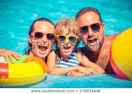 knappe · man · ontspannen · zwembad · sport · model · gezondheid - stockfoto © wavebreak_media