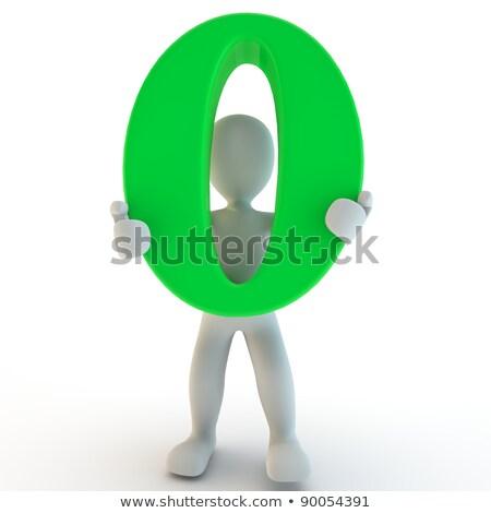 aantal · nul · 3d · render · geïsoleerd - stockfoto © Giashpee