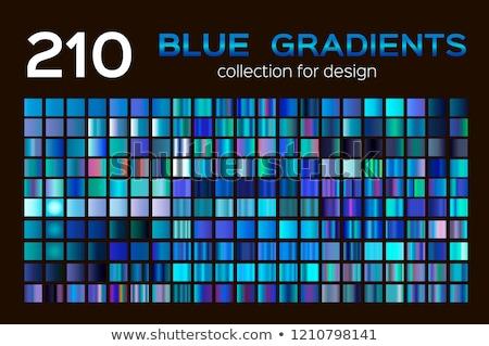 Resumen azul metálico símbolo diferente elementos Foto stock © MONARX3D