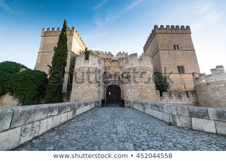 castle of ampudia castile and leon spain stock photo © phbcz