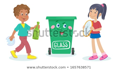 little girl carrying glass bottles stock photo © photography33