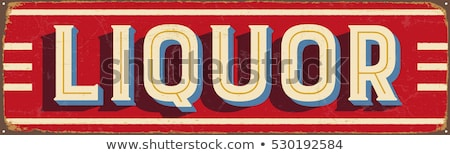 Old Vintage Liquor Store Sign stock photo © swatchandsoda