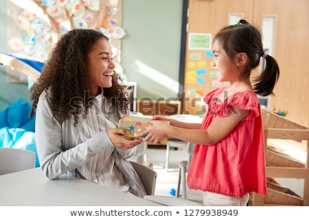 Kid Gives a Side Look Stock photo © ozgur