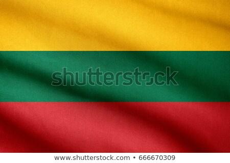 ткань текстуры флаг Литва синий лук Сток-фото © maxmitzu