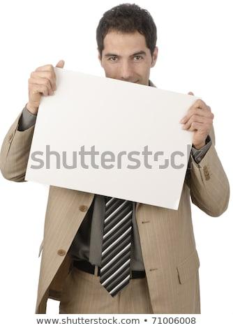 Business card,white Stock photo © photochecker