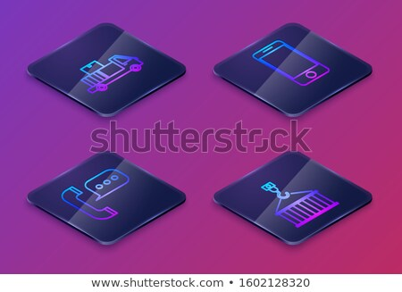 3d illustration: Call the service center. Mobile phone and a box Stock photo © kolobsek