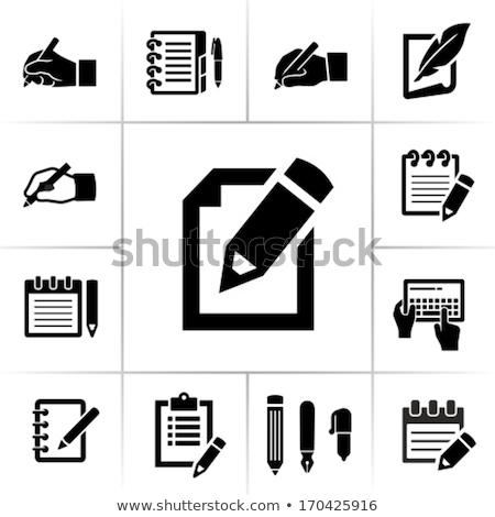 Vetor ícone memorando caneta Foto stock © zzve