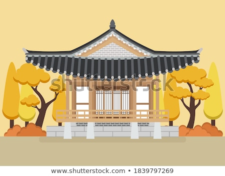 vector icon traditional house stock photo © zzve