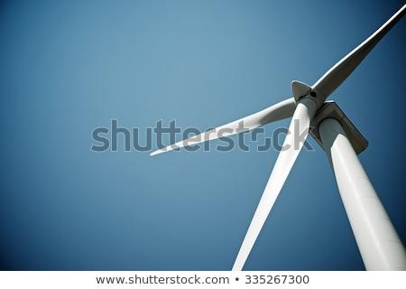 Zdjęcia stock: Wiatr · elektrownia · Błękitne · niebo · niebo · technologii