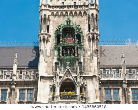 glockenspiel on the munich city hall stock photo © meinzahn