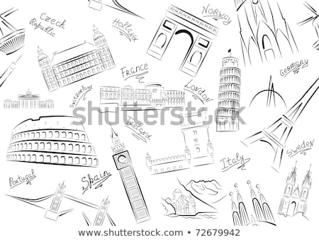 Some London images. Vector illustration Stock photo © leonido